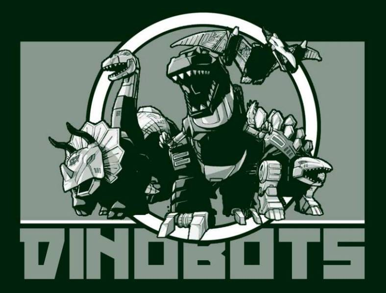 Dinobots Kickball Team Logo created and designed by JA Creative Group in Columbia Missouri