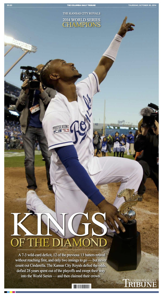 Kansas City Royals 2014 World Series Championship Full Page Design for the Columbia Daily Tribune designed by JA Creative Group