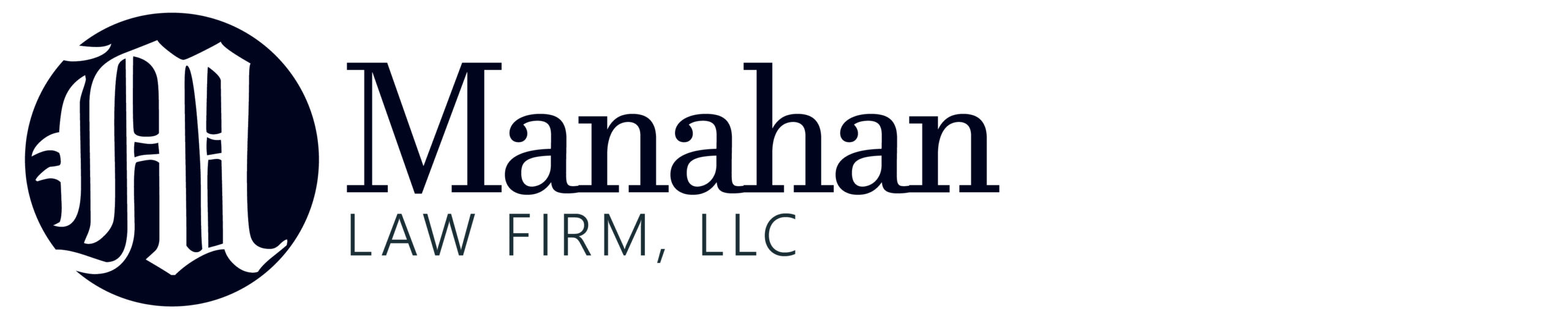Manahan Law Firm Horizontal logo created and designed by JA Creative Group