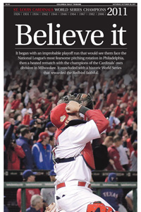 NEWSEUM Weekend Honorable Mention St. Louis Cardinals World Series Champions 2011 designed by JA Creative Group