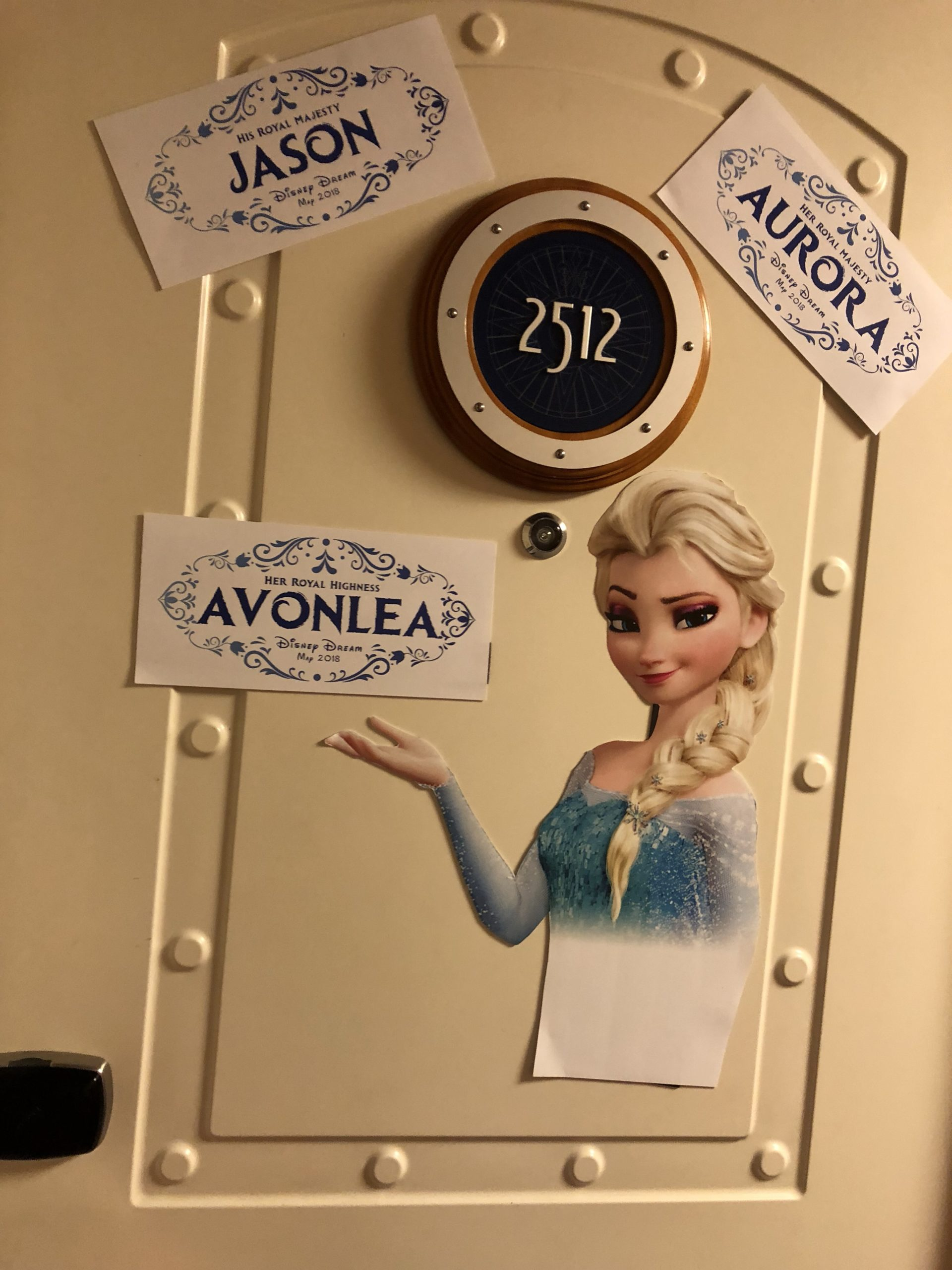 Frozen Disney Cruise Line Door Magnets created by JA Creative Group