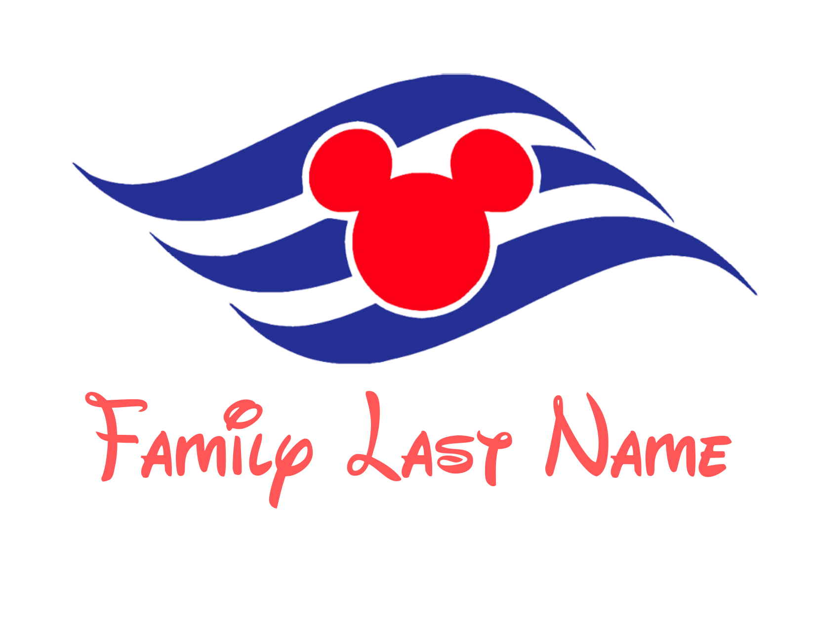 Family Disney Cruise Line Magnet Created by JA Creative Group